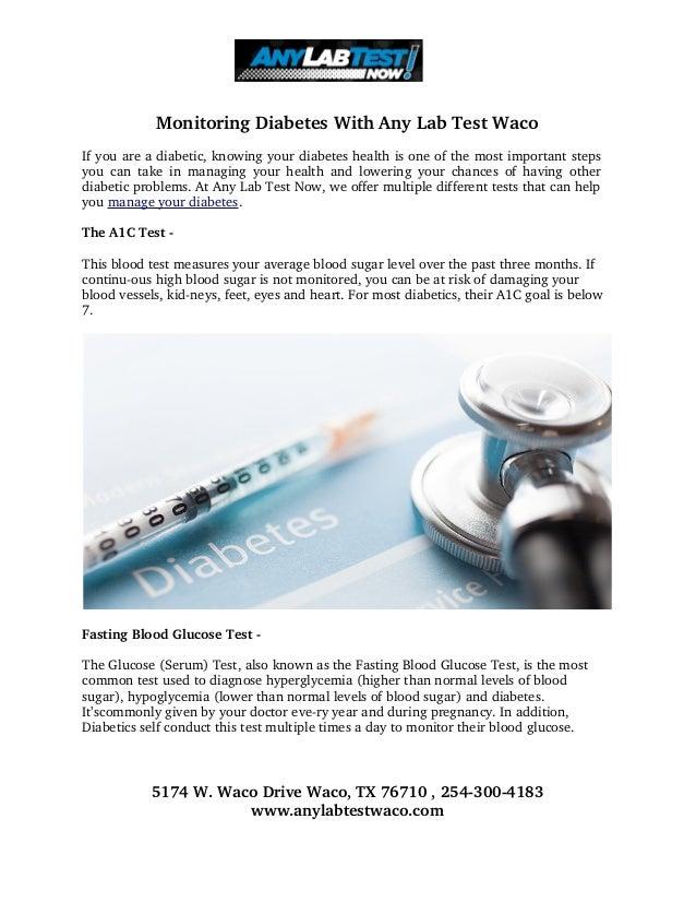 MonitoringDiabetesWithAnyLabTestWaco Ifyouareadiabetic,knowingyourdiabeteshealthisoneofthemostimportan...