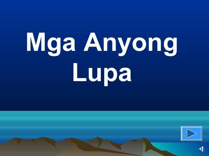 Mga Anyong   Lupa
