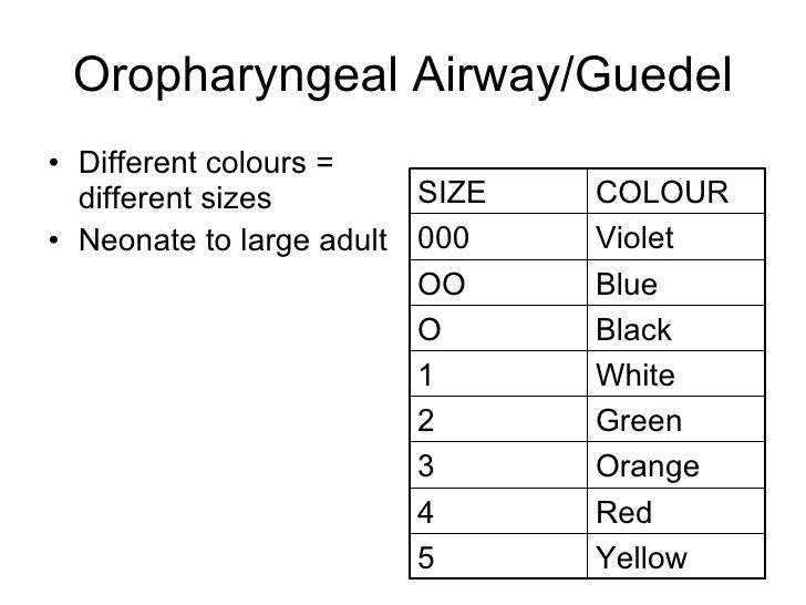 oropharyngeal airway g...