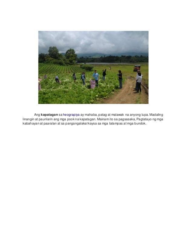 Mga Anyong Lupa at Kahulugan Slide 2