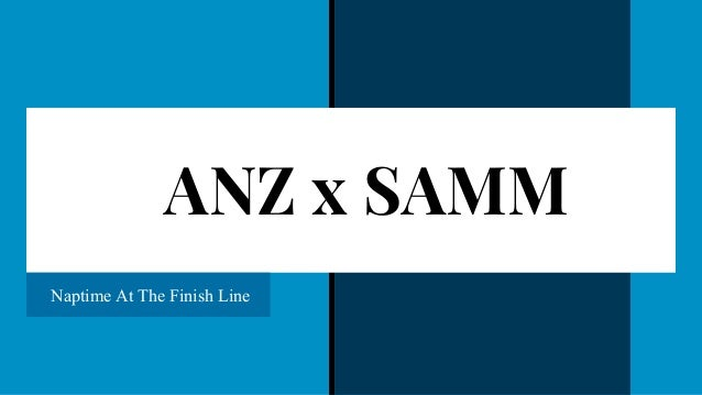 ANZ x SAMM Naptime At The Finish Line