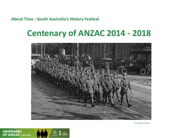 About Time : South Australia's History FestivalCentenary of ANZAC 2014 - 2018PRG 280/1/19/235