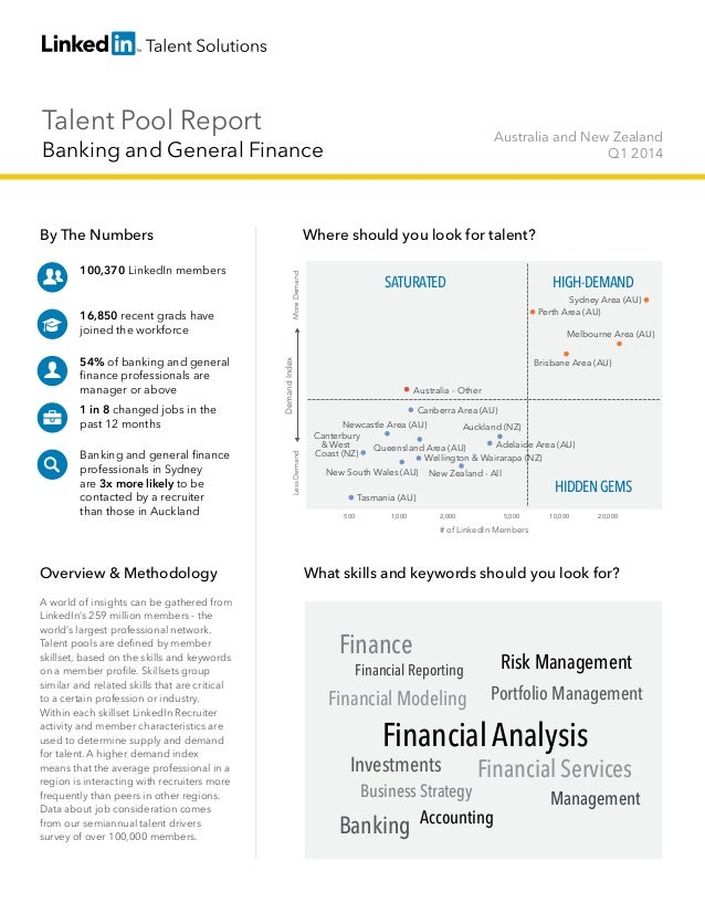 Talent Pool Report Banking and General Finance Australia and New Zealand Q1 2014 By The Numbers 100,370 LinkedIn members 1...