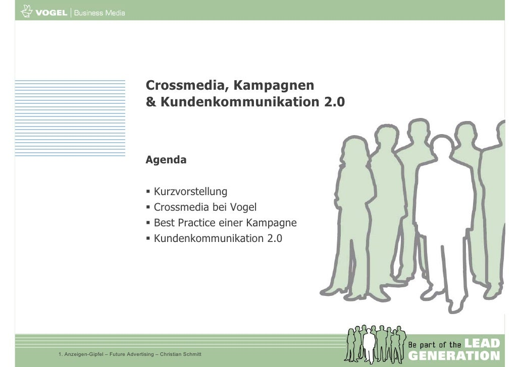 Crossmedia, Kampagnen                                     & Kundenkommunikation 2.0                                       ...