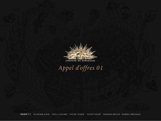EQUIPE 11 WLADIMIR ALVES HUGO CAILLARD RACHEL GLABLE VICTOR MALLET MEGHAN REGIOR GABRIEL VERGNAUD  Appel d'offres 01
