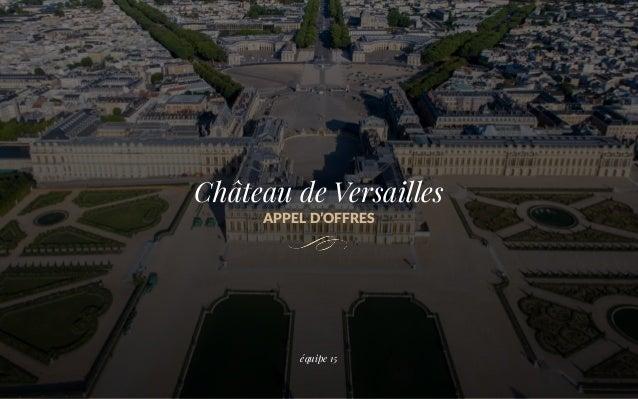 Château de Versailles APPEL D'OFFRES équipe 15