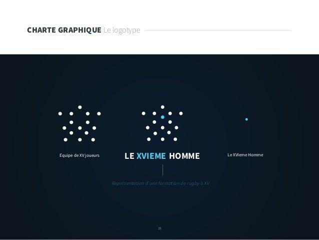 28 CHARTE GRAPHIQUE Le logotype LE XVIEME HOMMEÉquipe de XV joueurs Le XVIeme Homme Représentation d'une formation de rugb...