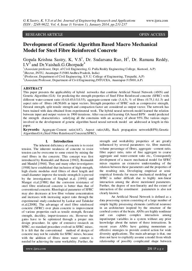 G K Sastry, K, V.S et al Int. Journal of Engineering Research and Applications ISSN : 2248-9622, Vol. 4, Issue 1( Version ...