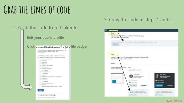 Add A Linkedin Badge To Your Personal Website