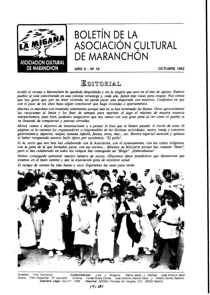 ASOCIACION CULTURAL                                            DE MARANCHON                                               ...
