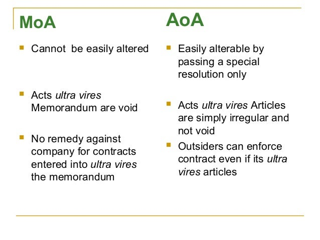 moa and aoa When someone found a company two important documents memorandum of association and articles of association are always there have a look moa vs aoa.