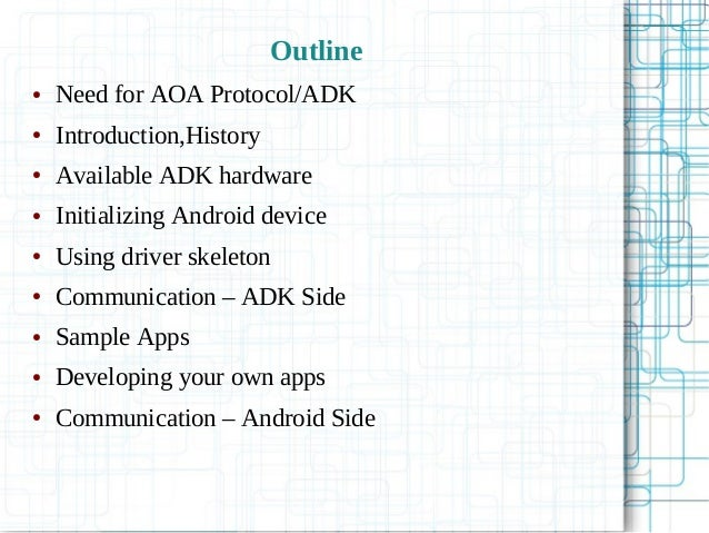 Android Open Accessory Protocol - Turn Your Linux machine as ADK