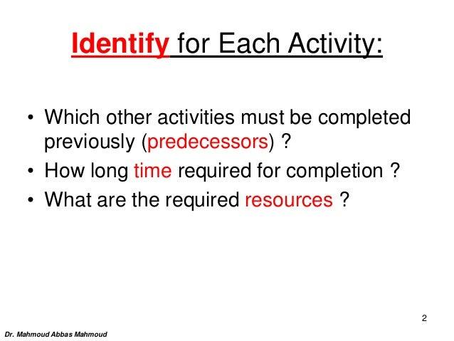(Aoa) and (aon) networks Slide 2
