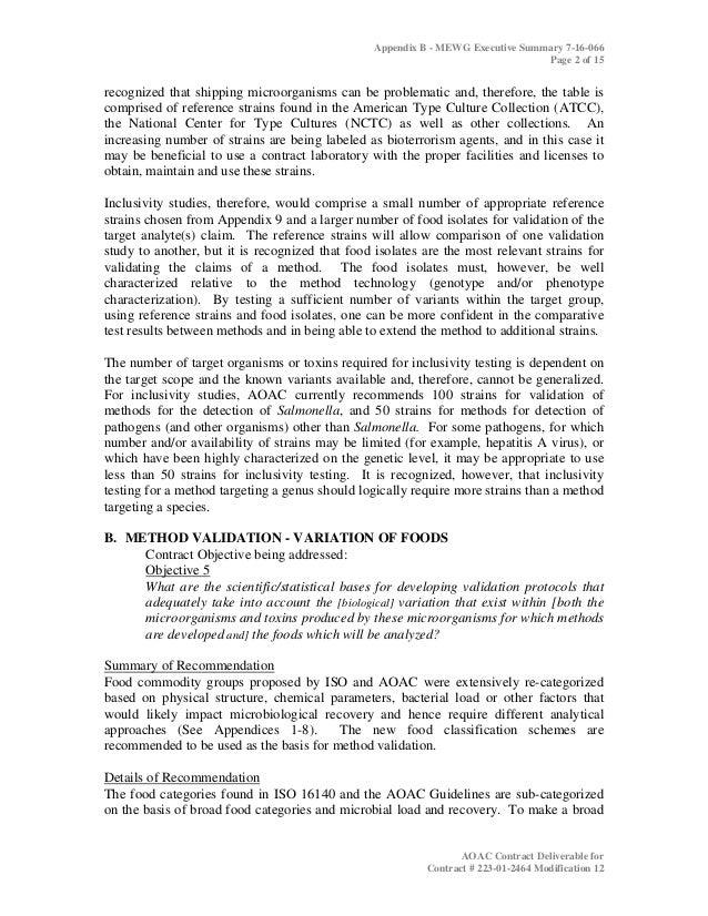aoac practices for microbiological methodology 2006 2 rh slideshare net Method Validation Template Elisa Validation Optimization and Development