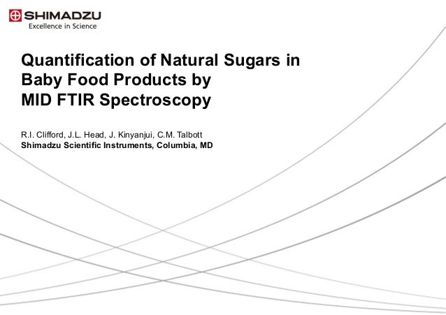 Quantification of Natural Sugars in Baby Food Products by MID FTIR Spectroscopy R.I. Clifford, J.L. Head, J. Kinyanjui, C....