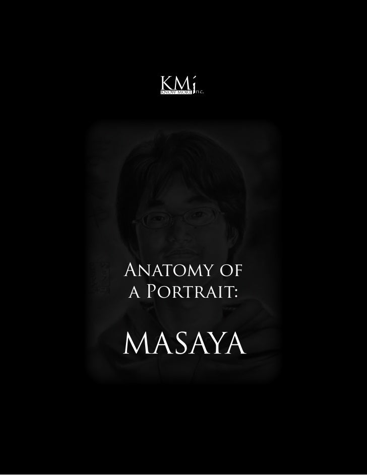 KM      i   Know More   nc.Anatomy ofa Portrait:MASAYA