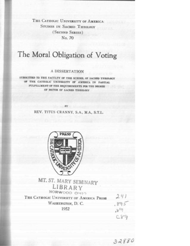 A obrigação moral do voto  em inglês