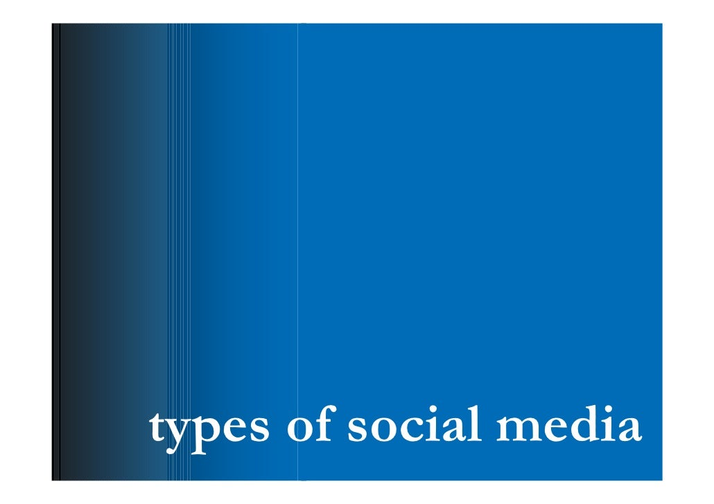 types  • social networks