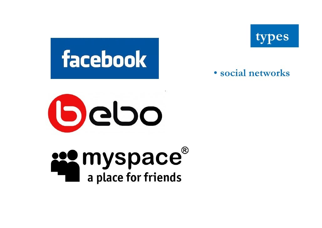 types  • social networks          • blogs