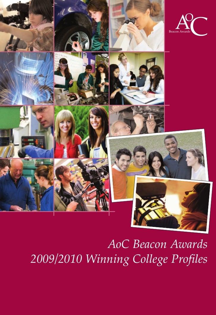 AoC Beacon Awards 2009/2010 Winning College Profiles