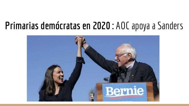 Elecciones 2020 ¿Por qué es la candidata fantasma? ➔ No se presenta a las primarias demócratas pero da apoyo a Sanders. ➔ ...