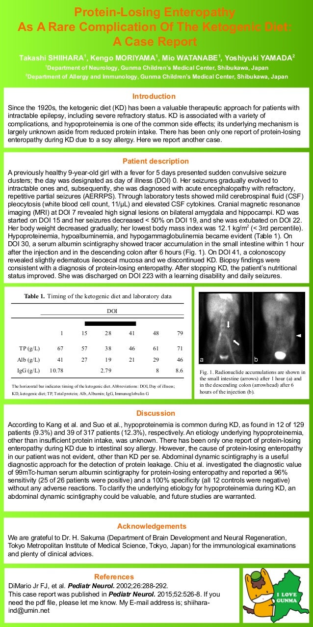 Protein-Losing Enteropathy As A Rare Complication Of The Ketogenic Diet: A Case Report Introduction Since the 1920s, the k...