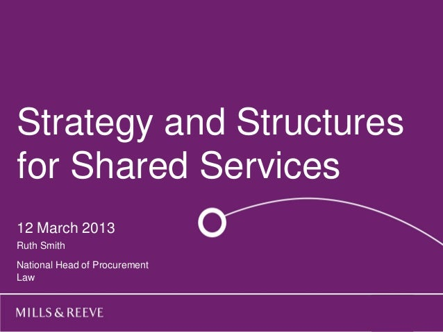 Strategy andhere Title goes  Structuresfor Shared Services  Subtitle goes here12 March 2013  Name Surname OneRuth Smith  N...