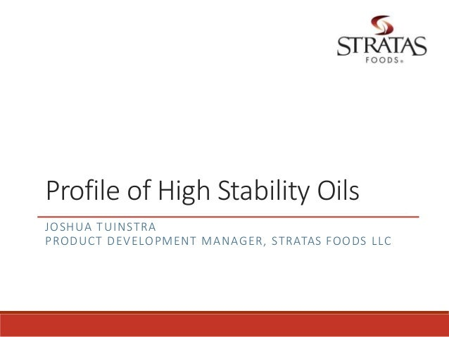 Oxidative Stability Natural Oils