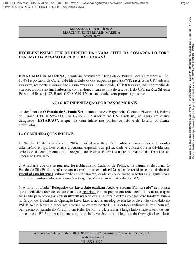 PROJUDI - Processo: 0035585-70.2015.8.16.0001 - Ref. mov. 1.1 - Assinado digitalmente por Marcia Eveline Mialik Marena 14/...