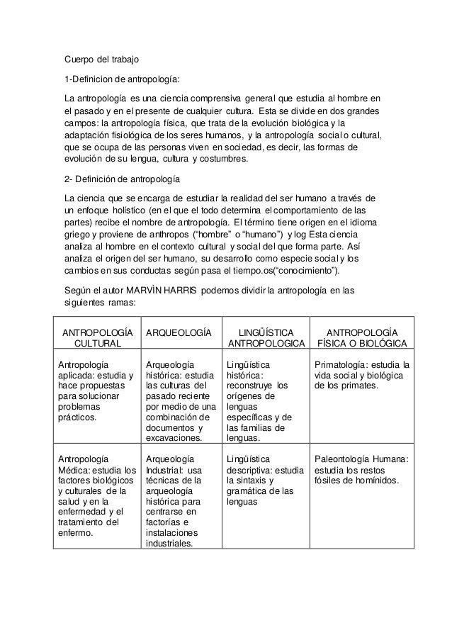 ORIGEN DE LA ANTROPOLOGIA PDF