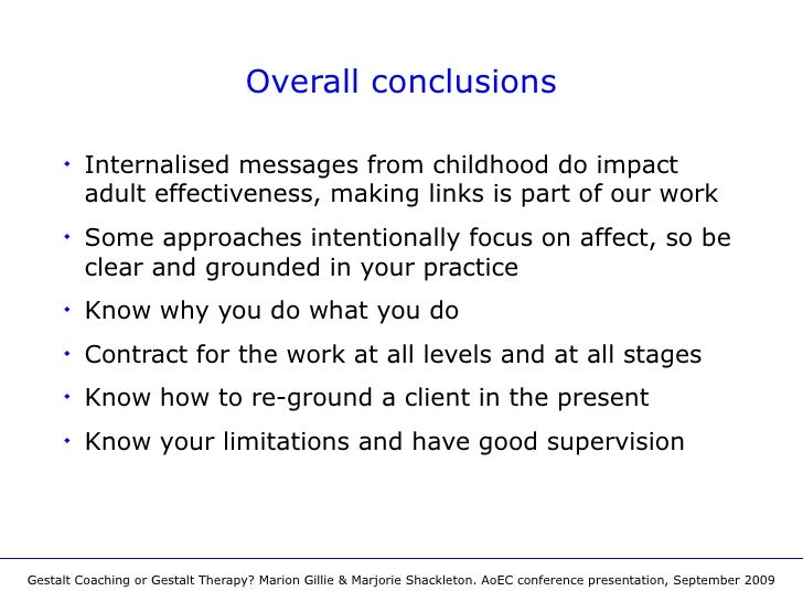 Gestalt coaching or gestalt therapy aoec conference presentation september 2009 10 fandeluxe Image collections