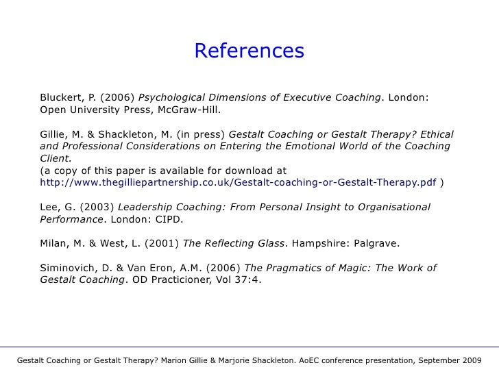Gestalt coaching or gestalt therapy aoec conference presentation september 2009 11 fandeluxe Image collections