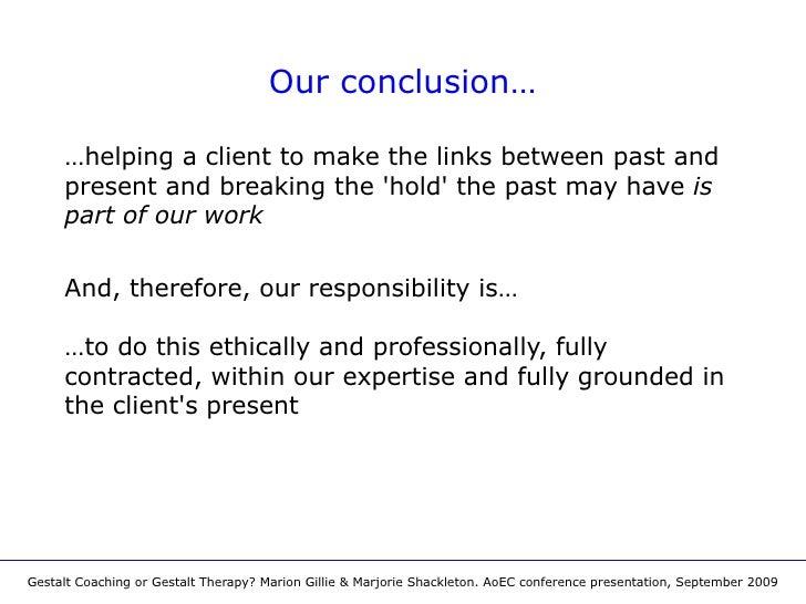Gestalt coaching or gestalt therapy aoec conference presentation september 2009 8 fandeluxe Images