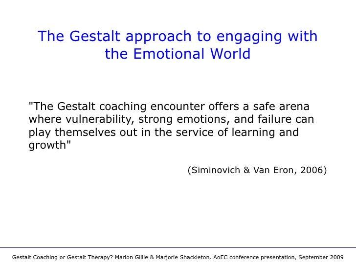 Gestalt coaching or gestalt therapy the gestalt fandeluxe Image collections
