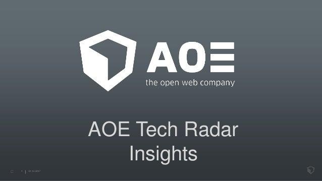AOE Tech Radar Insights