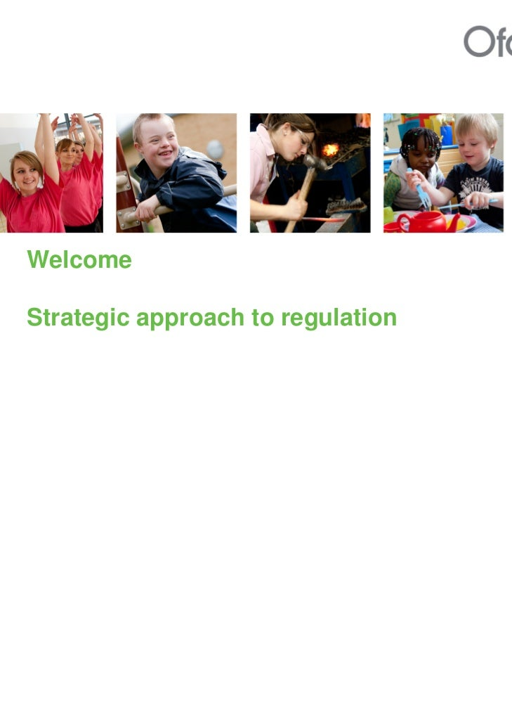 WelcomeStrategic approach to regulation
