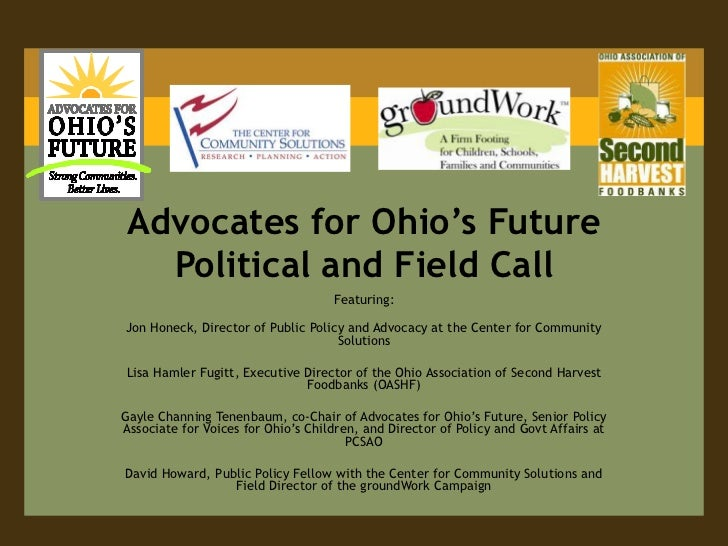 Advocates for Ohio's Future Political and Field Call<br />Featuring:<br />Jon Honeck, Director of Public Policy and Advoca...