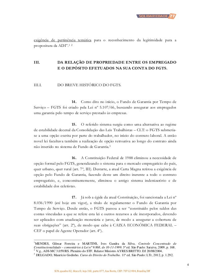 """exigência de pertinência temática para o reconhecimento da legitimidade para a propositura da ADI"""".1 2  III.  DA RELAÇÃO D..."""