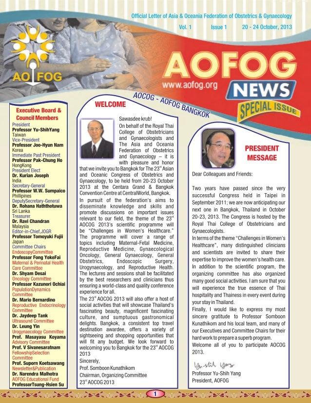 Aofog news letter