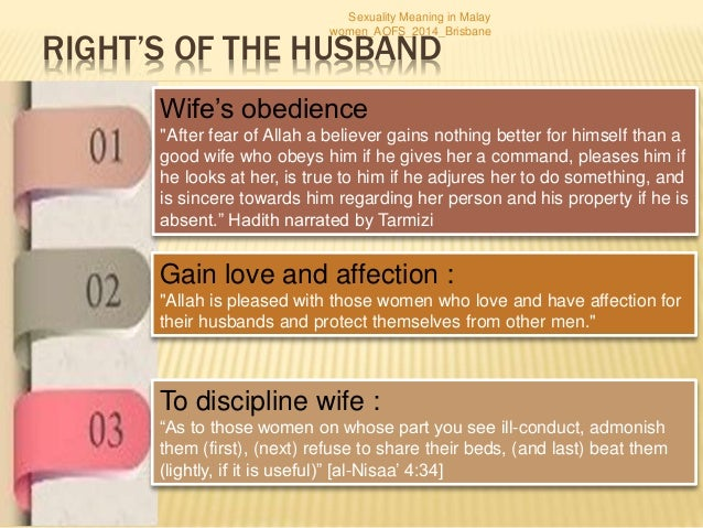 Should wife obey husband sexual