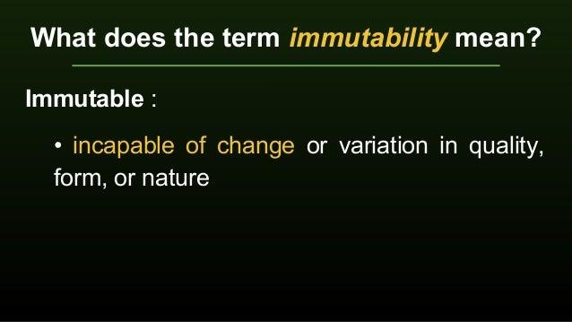 10 Attributes of God Lesson 5 Immutability Slide 2