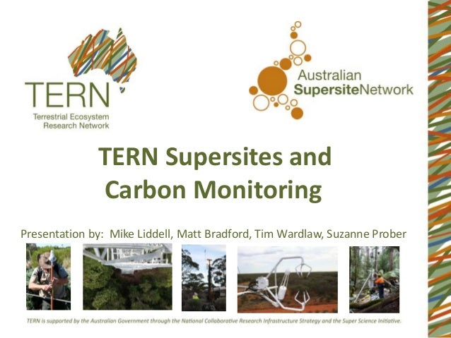 TERN Supersites and Carbon Monitoring Presentation by: Mike Liddell, Matt Bradford, Tim Wardlaw, Suzanne Prober