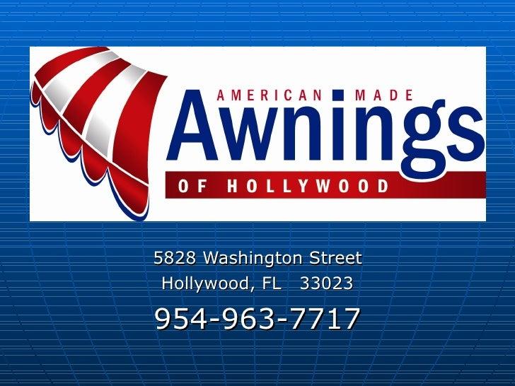 5828 Washington Street Hollywood, FL  33023 954-963-7717