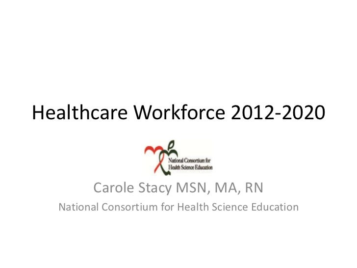 Healthcare Workforce 2012-2020         Carole Stacy MSN, MA, RN  National Consortium for Health Science Education