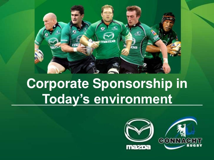 Corporate Sponsorship in  Today's environment