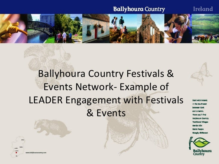 Ballyhoura Country Festivals & Events Network- Example of LEADER Engagement with Festivals & Events