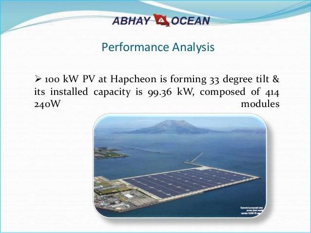 Aoil Floating Solar Power Plant Ppt 2015