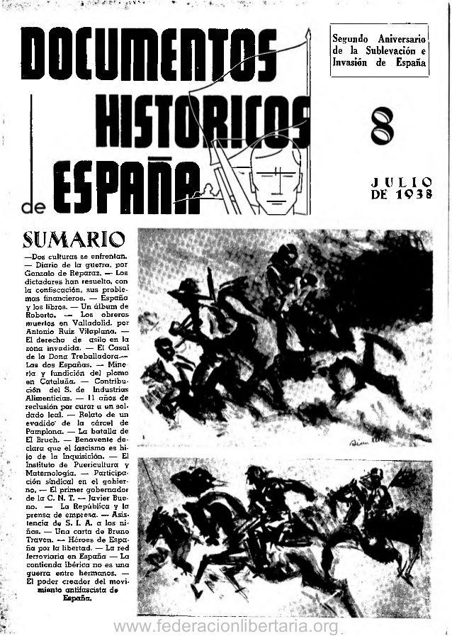 j,  ^  .  >; V  V  * • ■'*  Documcmo  Segundo Aniversario de la Sublevación e Invasión de España  ESFflDR SUMARIO — Dos cu...