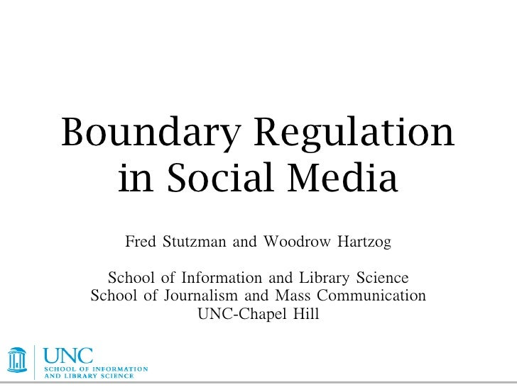 Boundary Regulation   in Social Media        	         	           	                               	           	   	      ...