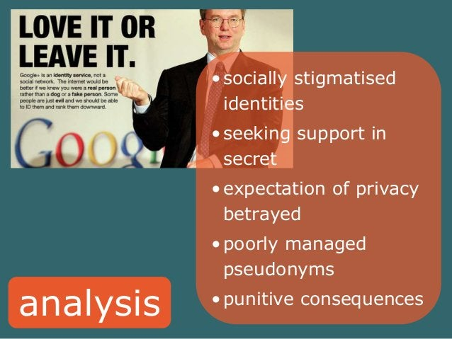 analysis  •socially stigmatised  identities  •seeking support in  secret  •expectation of privacy  betrayed  •poorly manag...